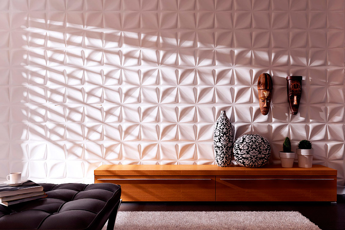 Трехмерные панели — новое в дизайне интерьеров