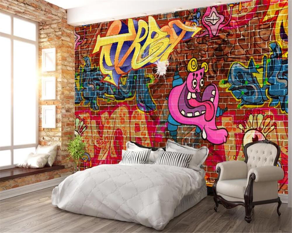 район картинки комнаты с граффити где