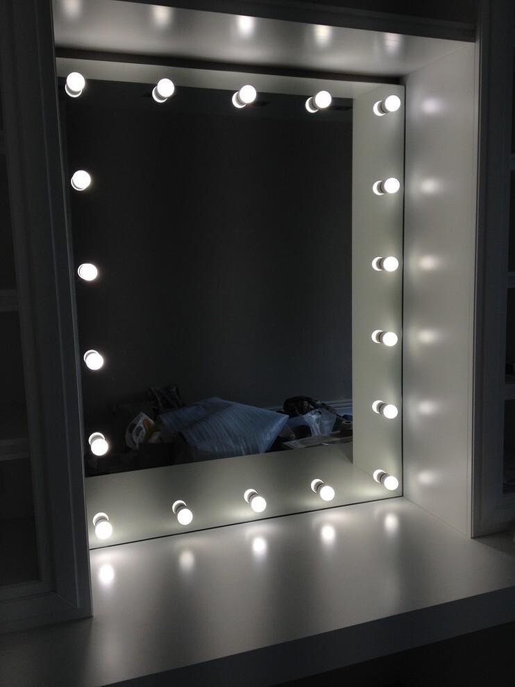 Модные лампочки на зеркало фото