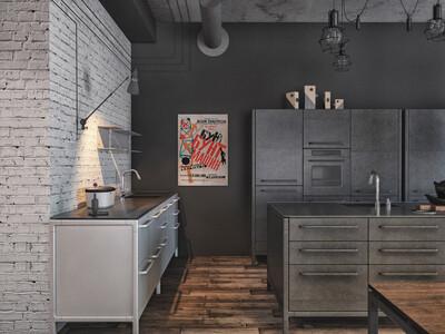 Кухня-столовая в стиле лофт – как оформить?