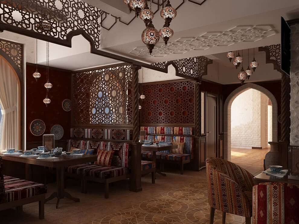 узбекский дизайн кафе фото