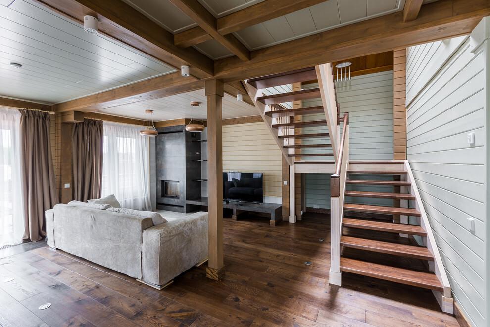 фото потолков в клееных из бруса домах процессе подобной работы